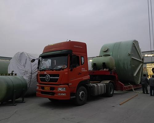 超大直径玻璃钢容器运输
