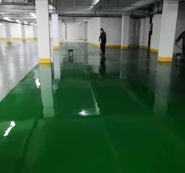 地坪漆施工完成!