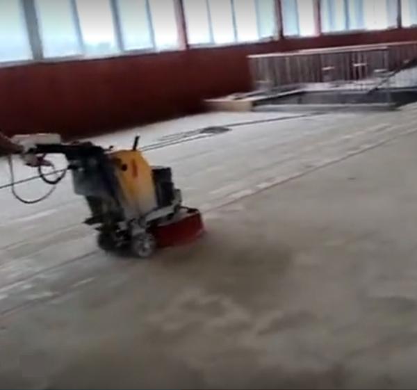 桐柏县实验高中地坪漆施工