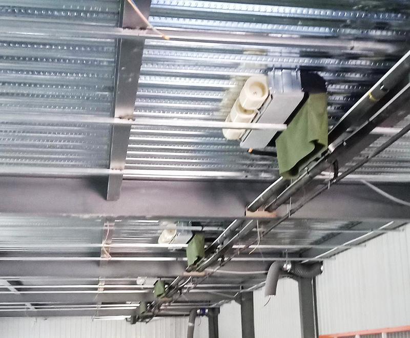 廠房風機盤管安裝1
