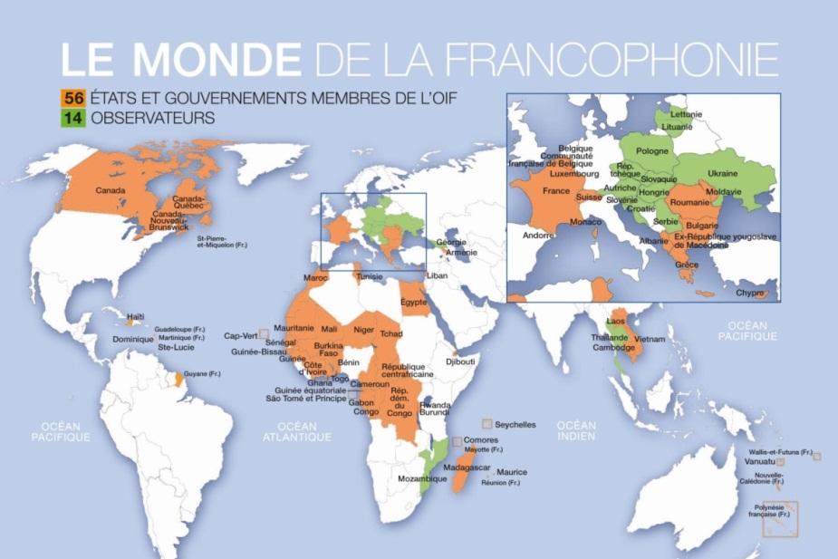 樱花雨外语之世界上讲法语的40多个国家和地区 最新版本 法语入门图片