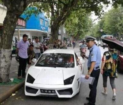 """惠州道路护栏厂家分享男子花3万网购""""兰博基尼"""",刚上路就被交警扣下了"""