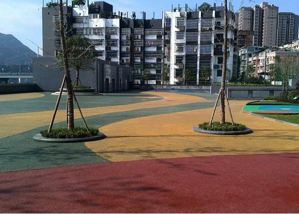 宣汉广场彩色混凝土