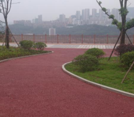 万州滨江路彩色透水混凝土地坪