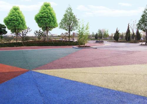 彩色透水混凝土施工