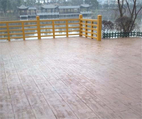 重庆彩色压模混凝土路面