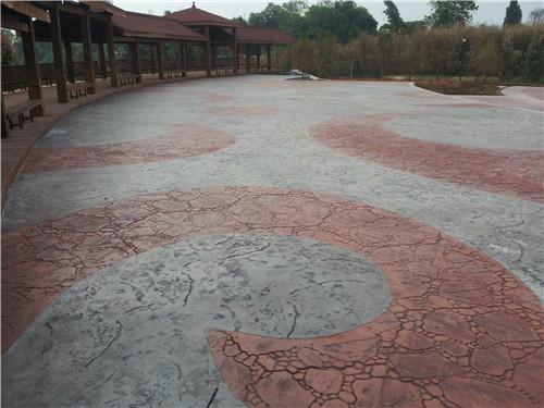 彩色压膜混凝土地坪