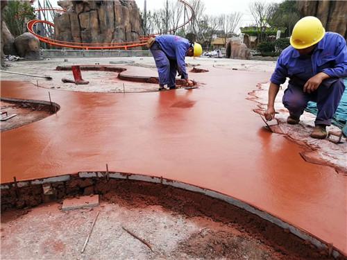 重庆洗砂仿石艺术地面