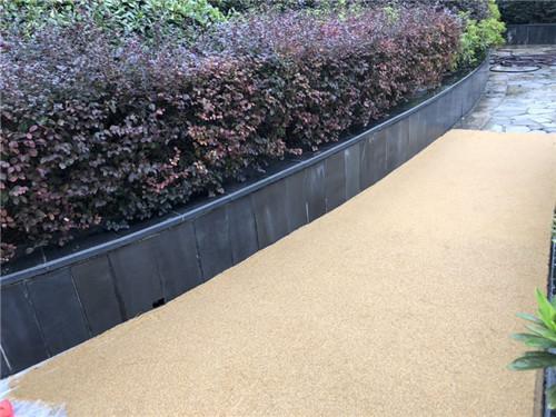 彩色天然砂透水地坪