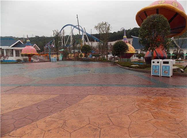 彩色洗砂混凝土地坪