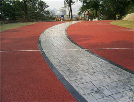 彩色石英砂混凝土路面
