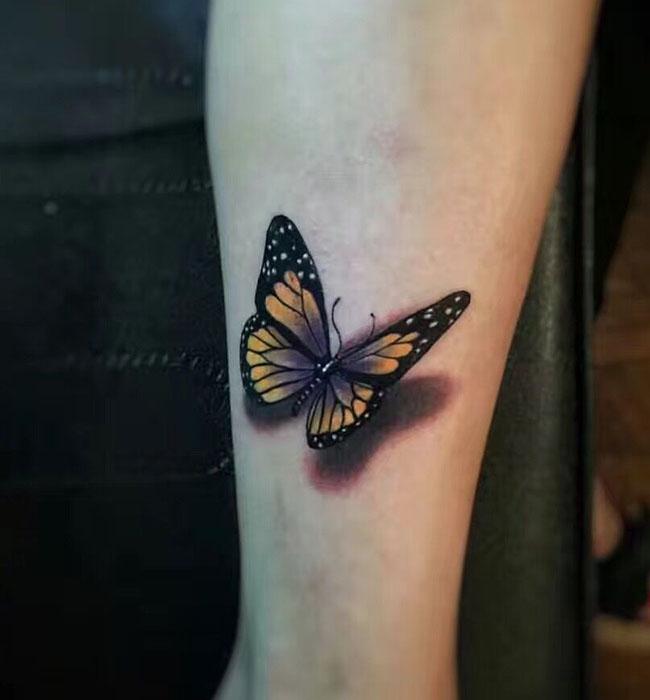 蝴蝶作品纹身