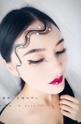 化妆学员实操作品