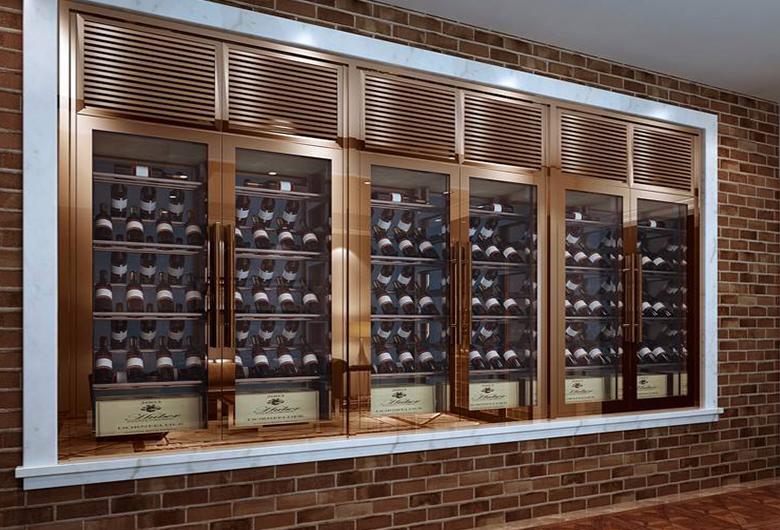 墙壁不锈钢酒柜