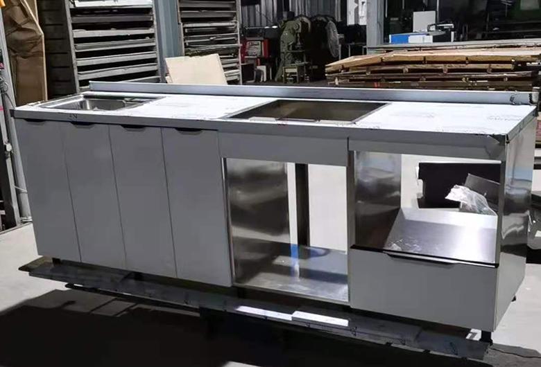不锈钢移动橱柜