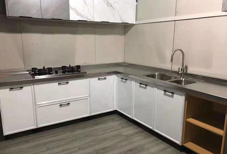 不锈钢整体厨房柜
