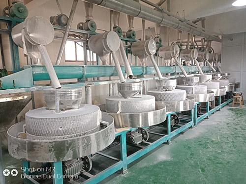 小米石碾加工设备