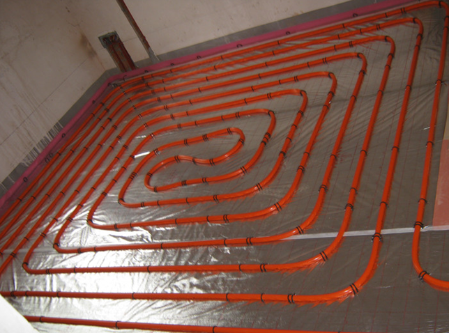 安阳空气能地暖分享地源热泵管材的下管方法