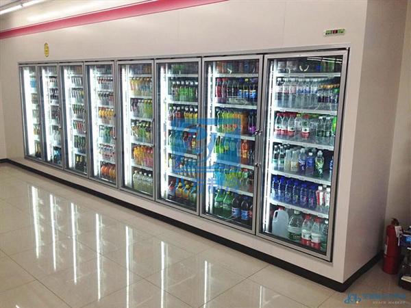 智能远程监控后补式超市水果展示冷库