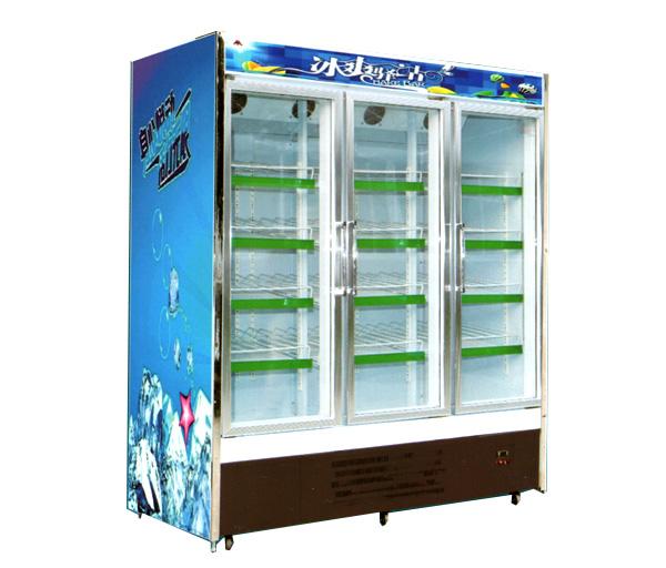 立式玻璃门冷藏柜/冷冻柜(三门)