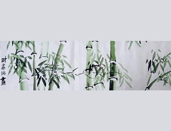 竹子国画作品