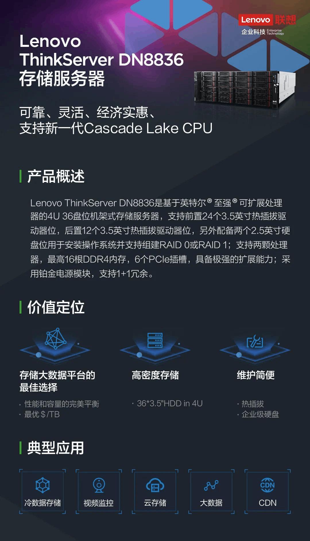 联想ThinkServer DN883——超大容量存储服务器的性价比之选