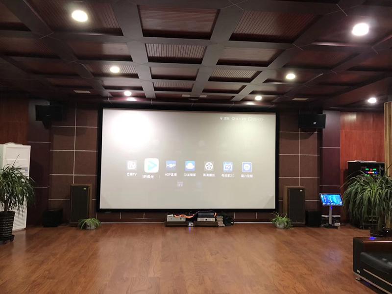 高端私人影院影视系统施工案例