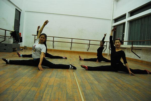 舞蹈學生在上課