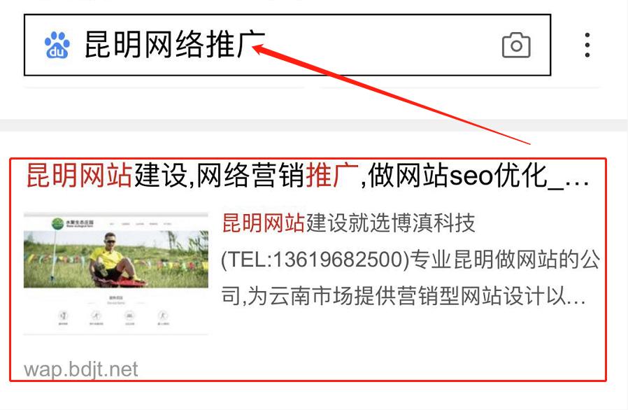 昆明網絡推廣手機端單詞優化