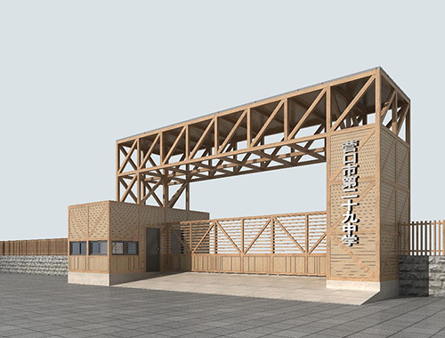 鲅鱼圈大门木结构案例展示