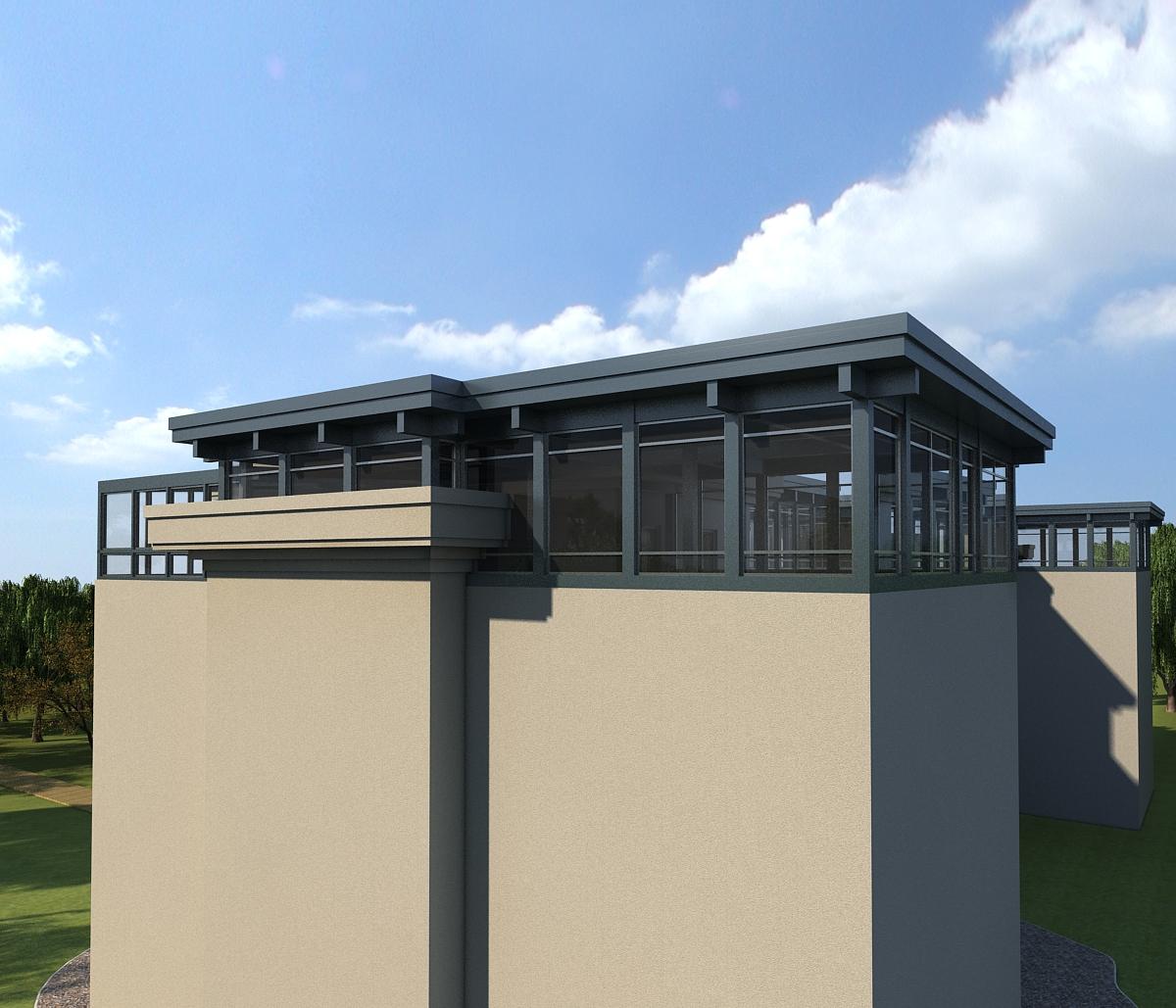 中粮隆玺楼顶加建木结构阳光房