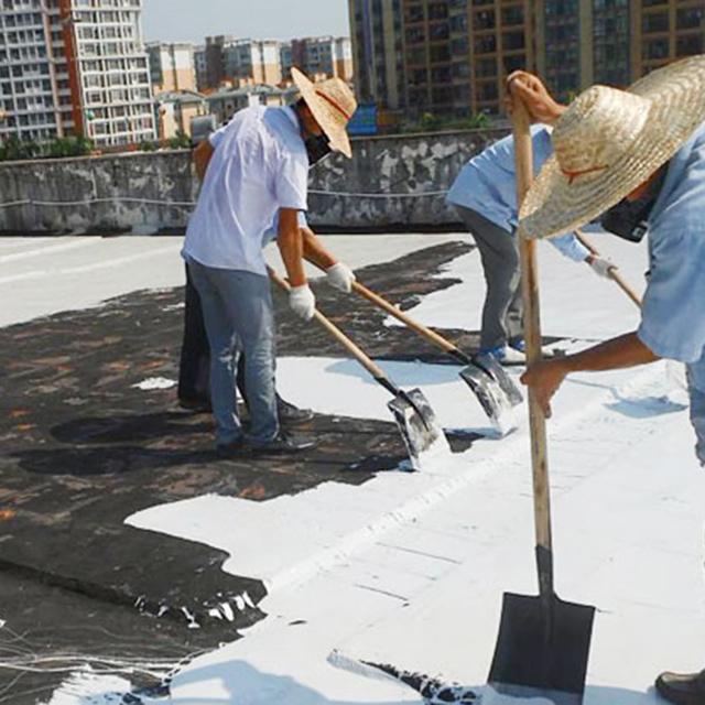 屋顶防水涂料施工
