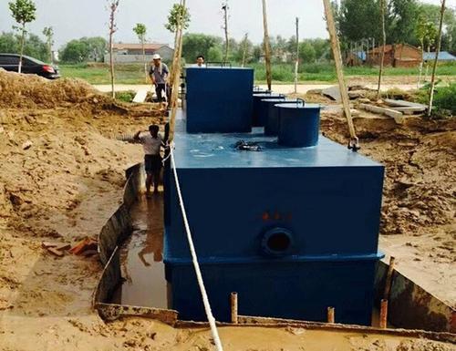 建在地下的污水处理成套设备噪声对地面基本不影响