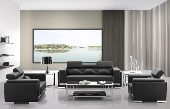 定制牛皮沙发-商务办公沙发设计-办公沙发摆放
