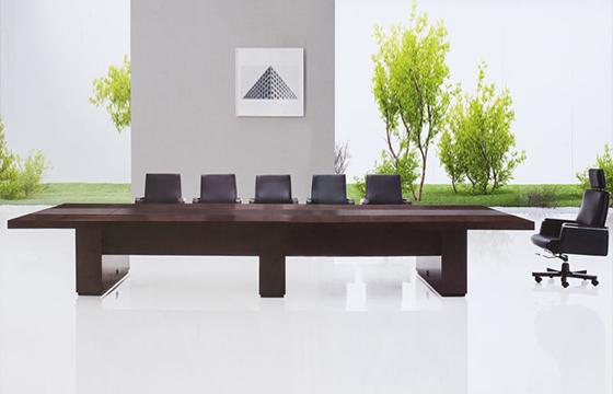 实木会议桌尺寸-会议桌摆放-办公会议桌