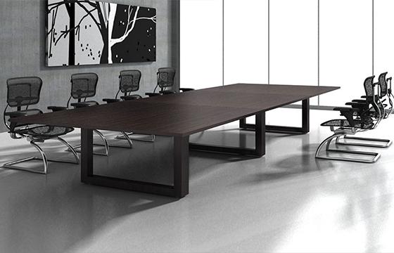 优彩网彩票桌实木会议桌-多人会议桌-定制会议桌