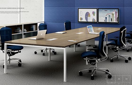 会议桌尺寸-办公板式会议桌-板式家具