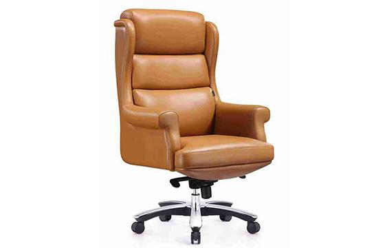 牛皮大班椅-旋转老板椅-升降牛皮椅
