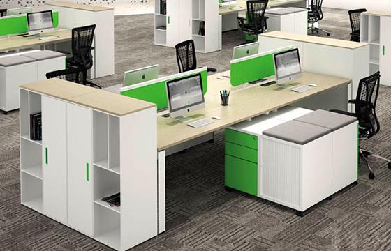 多人办公桌-办公桌尺寸-定制屏风办公桌