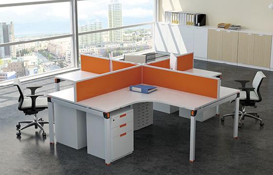 创意屏风桌-多人屏风隔断-办公室屏风桌