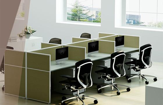 多人屏风办公桌-员工屏风工作位-定制屏风桌