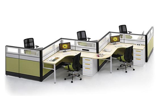 职员办公桌-屏风工作位款式-员工办公桌