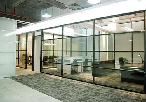 咸阳写字楼办公室玻璃高隔间