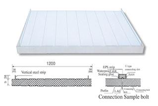 拼接式夹芯板屋面板