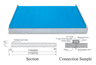 插接式夹芯板屋面板