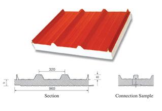 扣盖式夹芯板屋面板