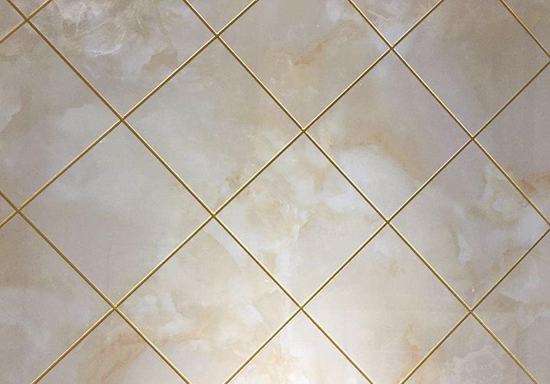 白色瓷砖金色美缝剂效果图