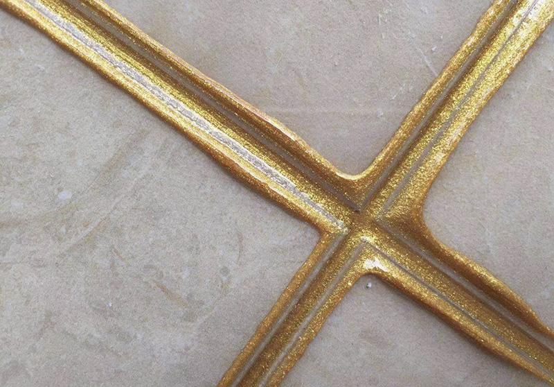 镏金色瓷砖美缝效果图