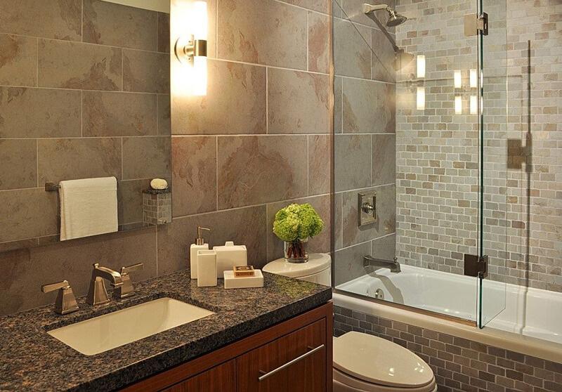 卫生间墙面瓷砖美缝效果图