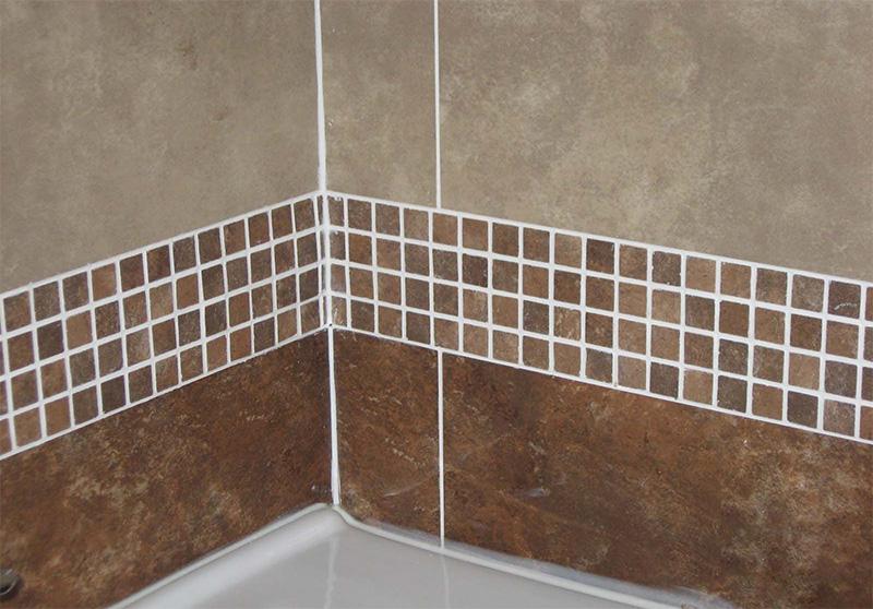卫生间白色美缝剂效果图